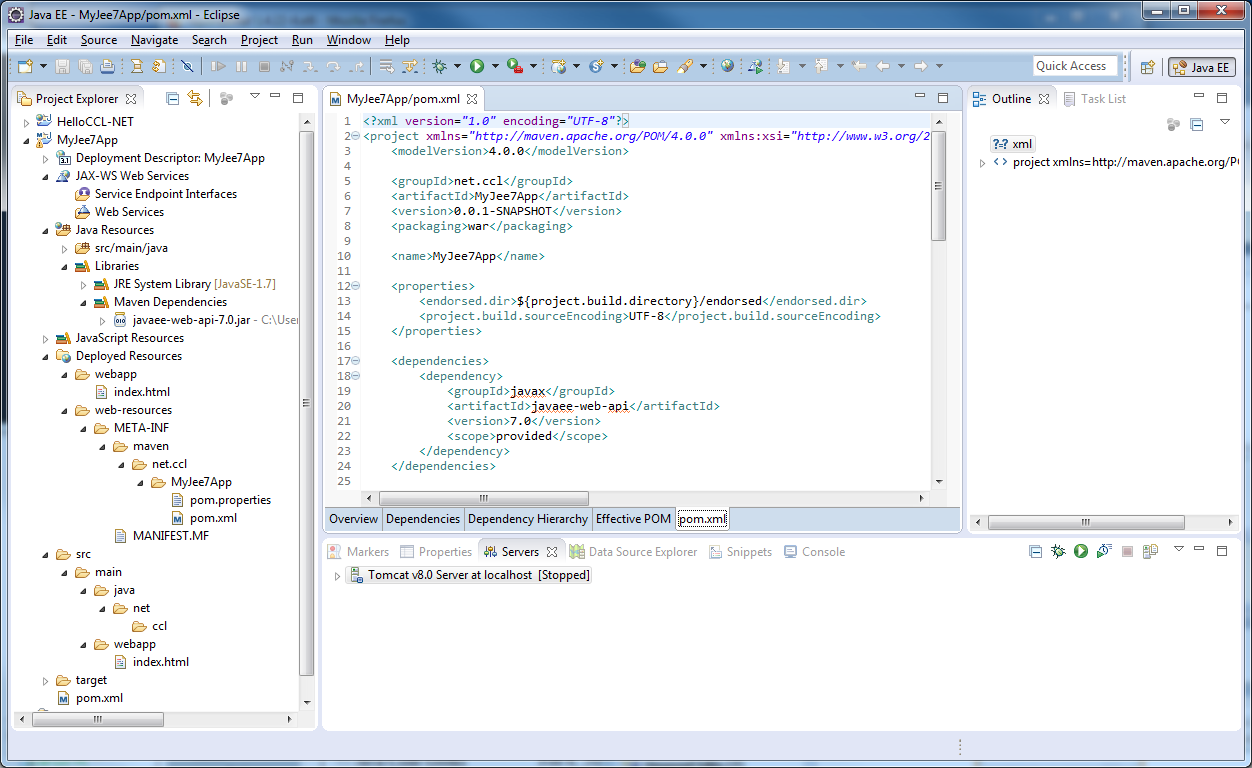 Eclipse and Maven and Tomcat on Windows