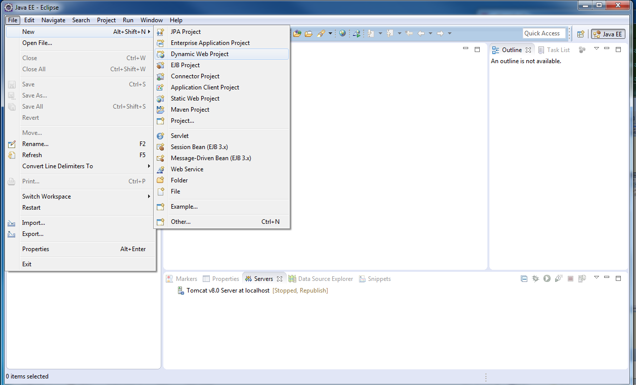 how to start tomcat server in windows