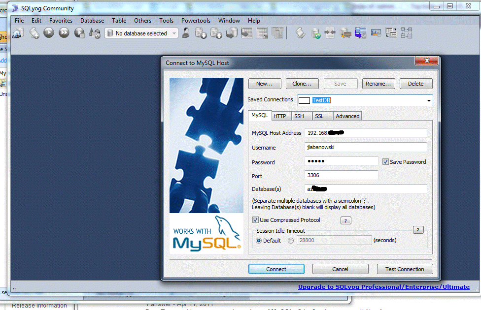 Quick-Start Guide a short Tour of the SQLyog Interface