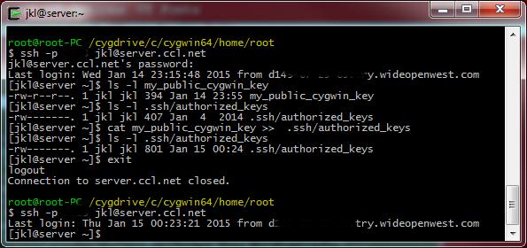 generate ssh public key cygwin